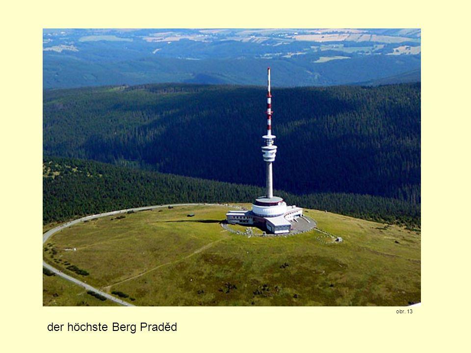 der höchste Berg Praděd