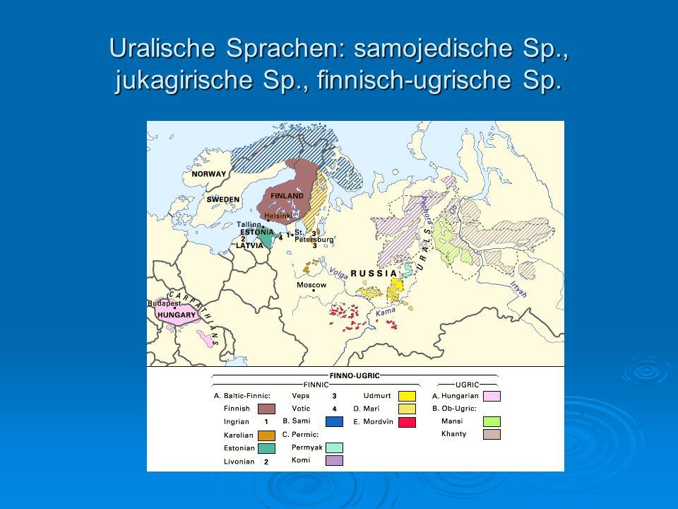 Uralische Sprachen: samojedische Sp. , jukagirische Sp