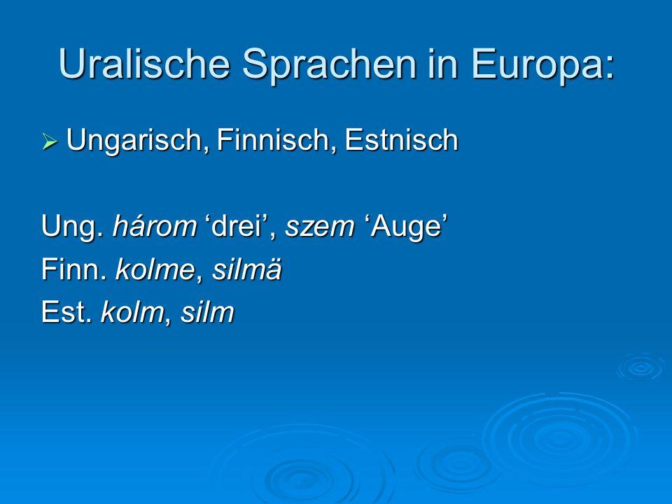 Uralische Sprachen in Europa: