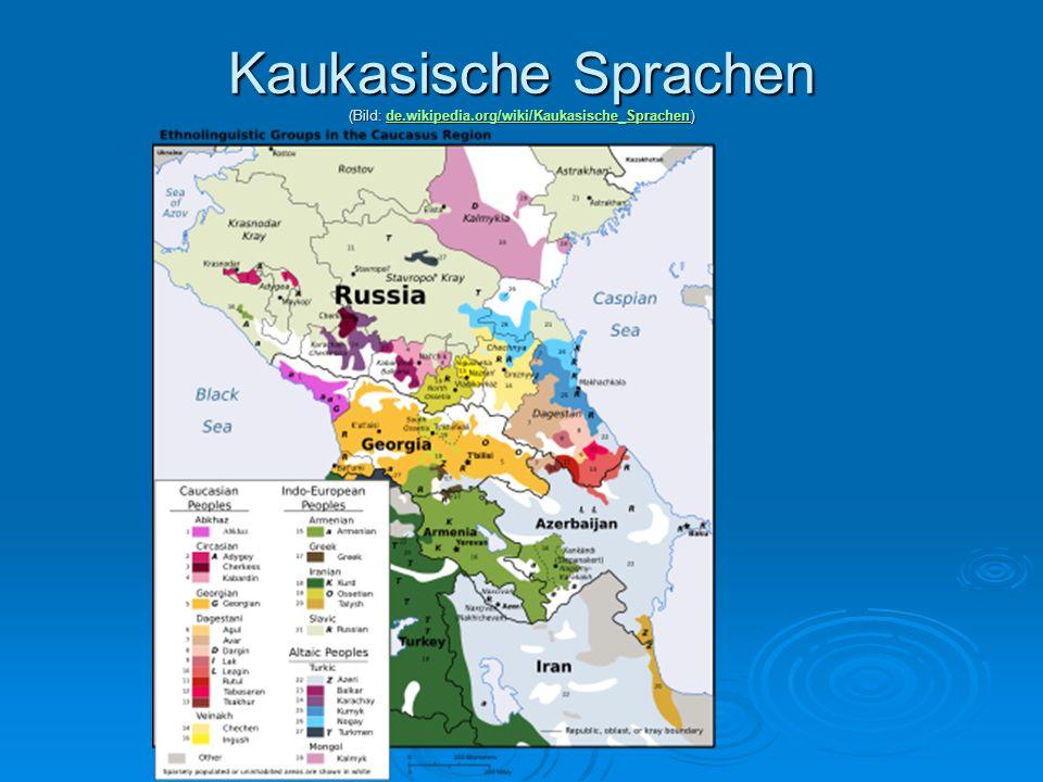 Kaukasische Sprachen (Bild: de. wikipedia