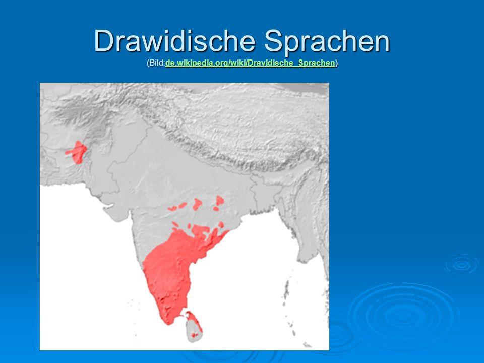 Drawidische Sprachen (Bild:de.wikipedia.org/wiki/Dravidische_Sprachen)