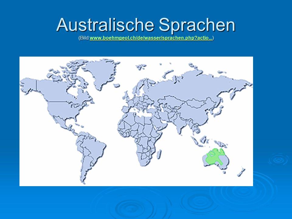 Australische Sprachen (Bild:www. boehmgeol. ch/de/wasser/sprachen. php