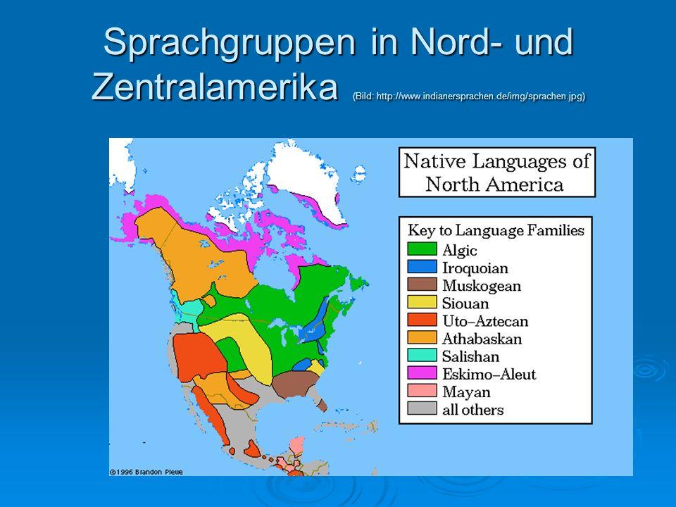 Sprachgruppen in Nord- und Zentralamerika (Bild: http://www