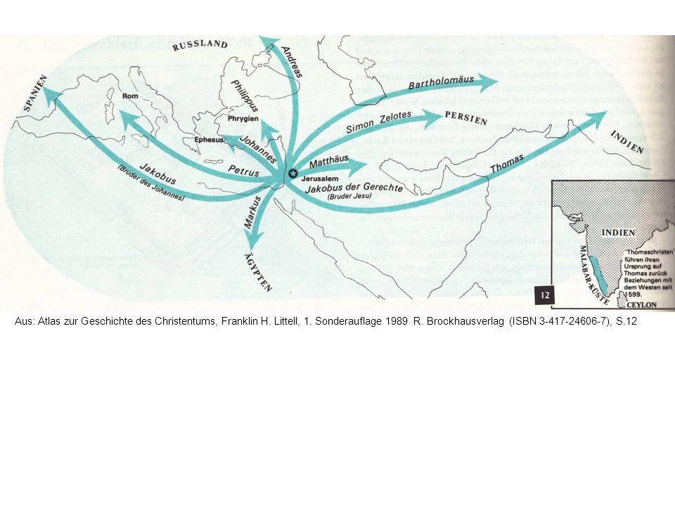 Aus: Atlas zur Geschichte des Christentums, Franklin H. Littell, 1