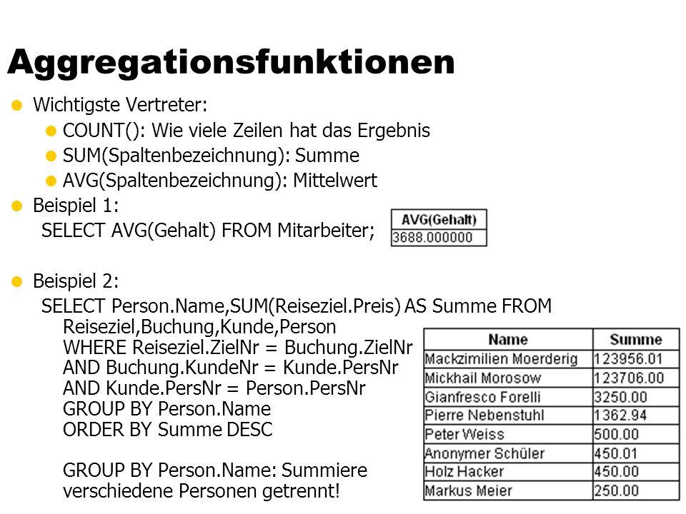 Aggregationsfunktionen