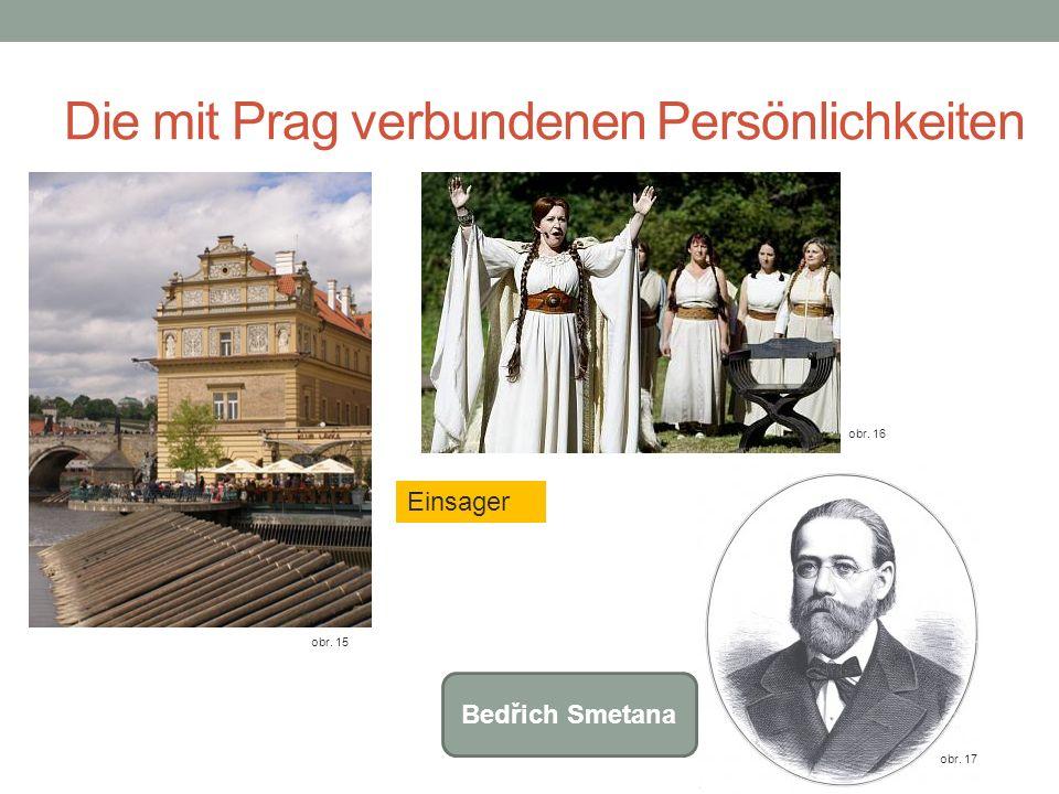 Die mit Prag verbundenen Persönlichkeiten