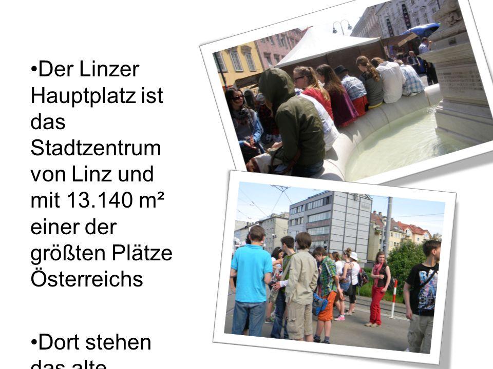 Der Linzer Hauptplatz ist das Stadtzentrum von Linz und mit 13