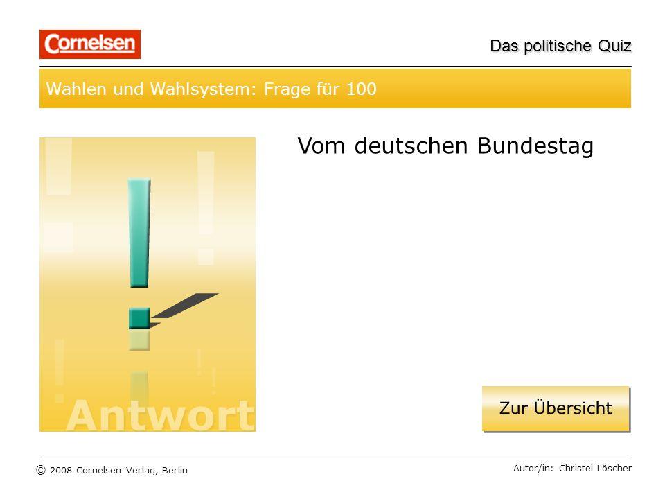 Vom deutschen Bundestag
