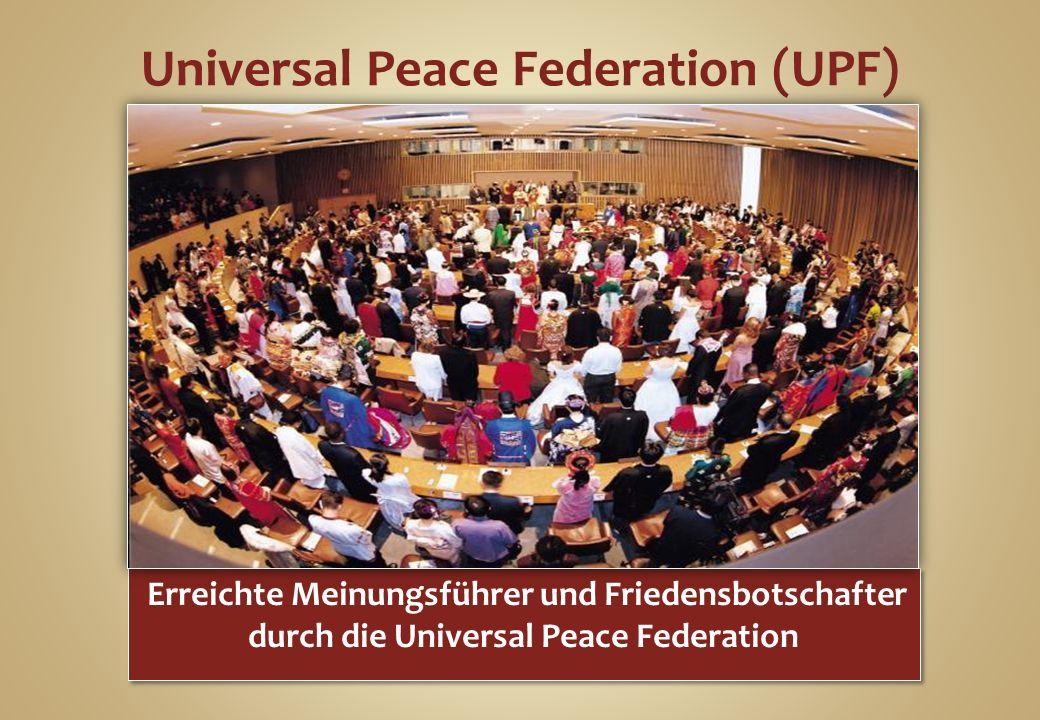 Universal Peace Federation (UPF)
