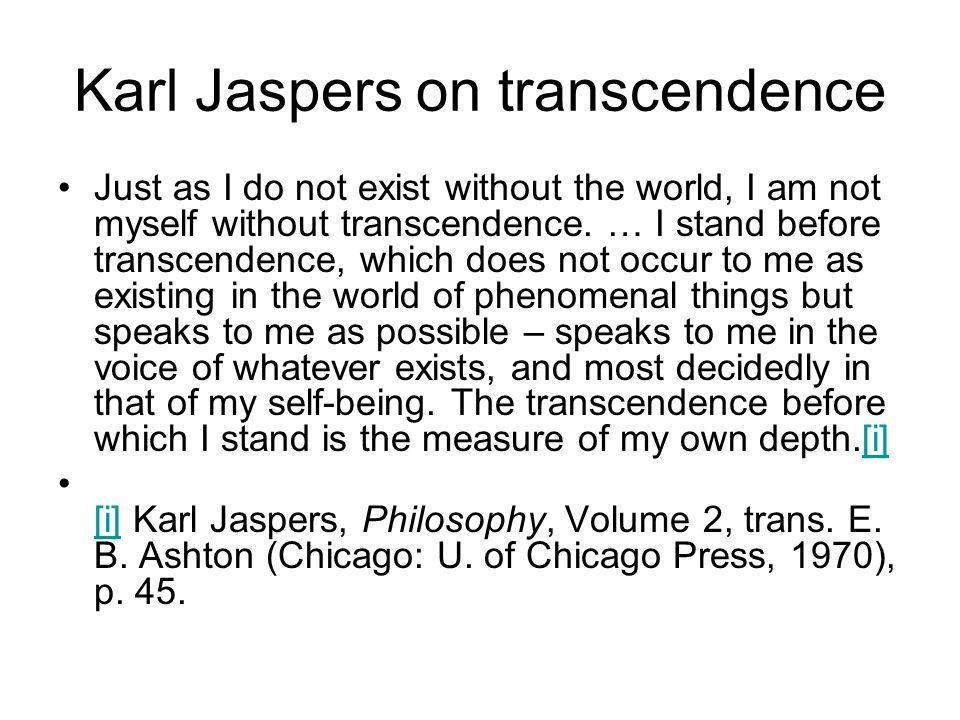 Karl Jaspers on transcendence
