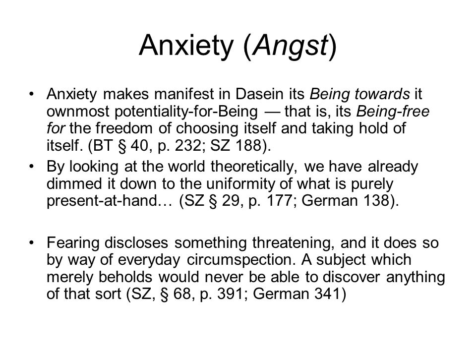 Anxiety (Angst)