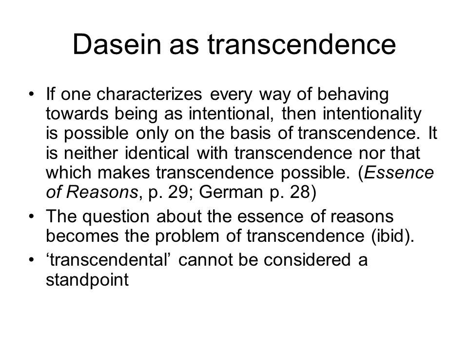 Dasein as transcendence