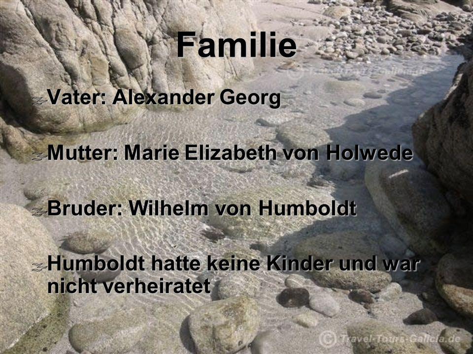 Familie Vater: Alexander Georg Mutter: Marie Elizabeth von Holwede