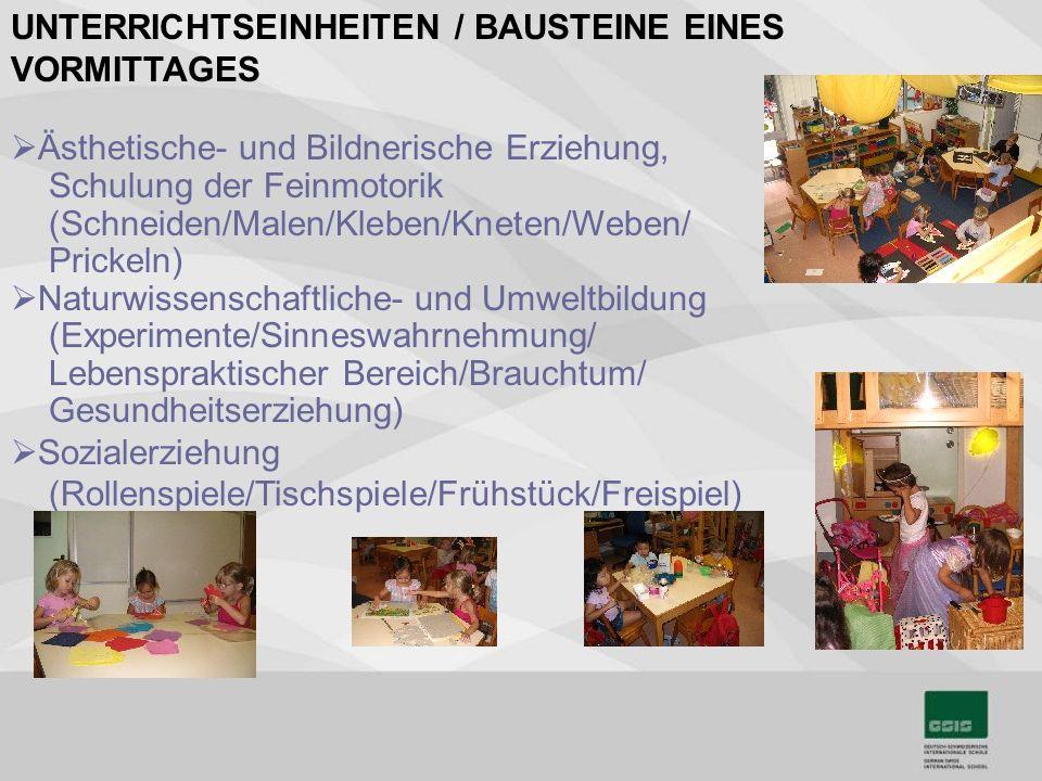 UNTERRICHTSEINHEITEN / BAUSTEINE EINES VORMITTAGES