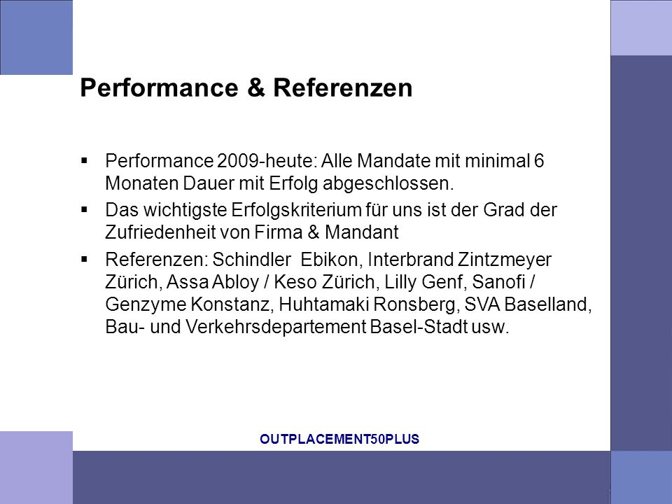 Performance & Referenzen