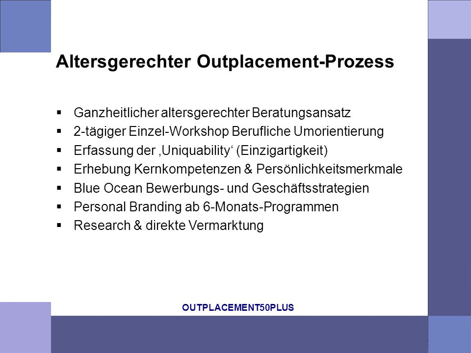Altersgerechter Outplacement-Prozess