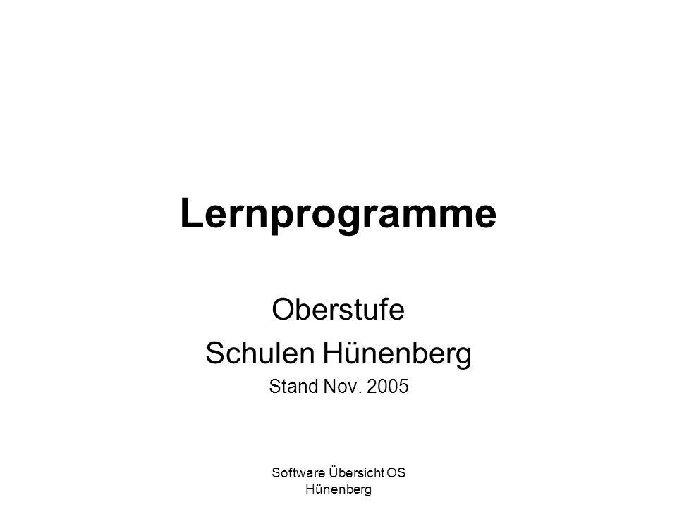 Oberstufe Schulen Hünenberg Stand Nov. 2005