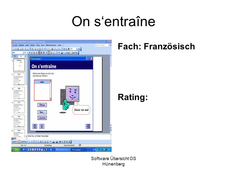 Software Übersicht OS Hünenberg