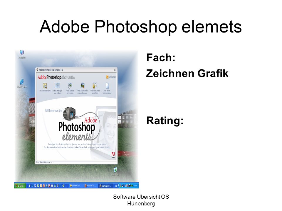 Adobe Photoshop elemets