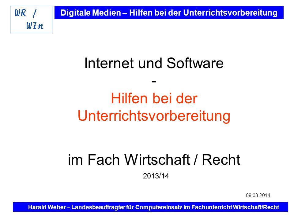 Internet und Software - Hilfen bei der Unterrichtsvorbereitung