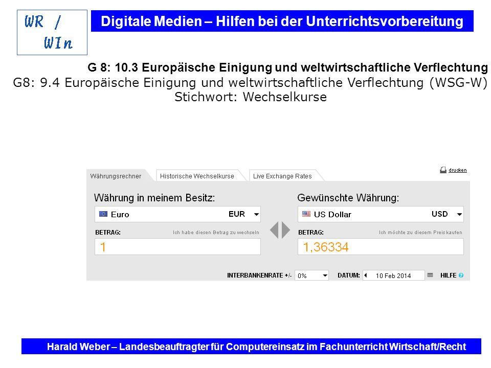 G 8: 10.3 Europäische Einigung und weltwirtschaftliche Verflechtung