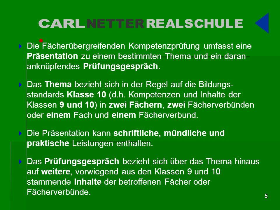 CARL NETTER. REALSCHULE.