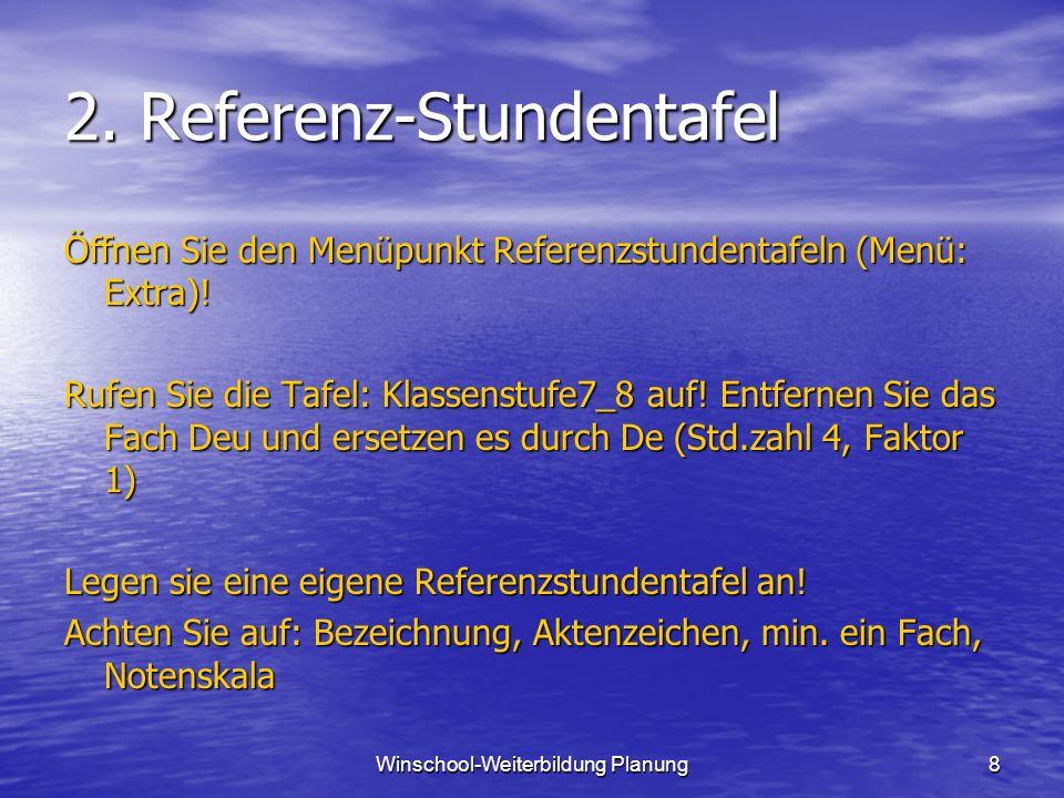 2. Referenz-Stundentafel