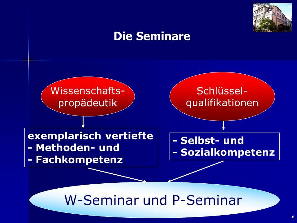 W-Seminar und P-Seminar