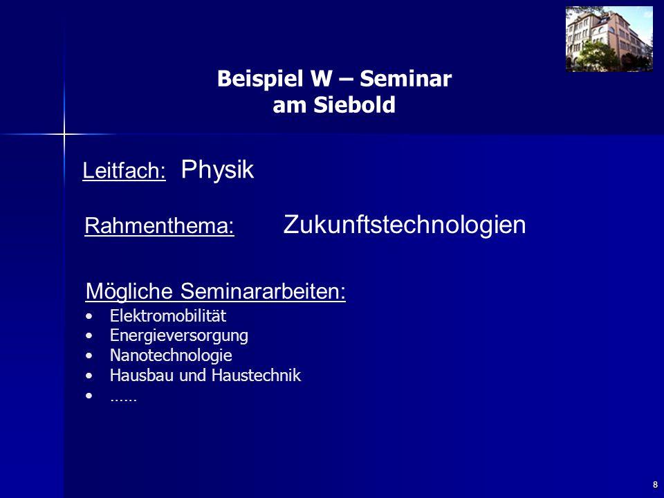Beispiel W – Seminar am Siebold