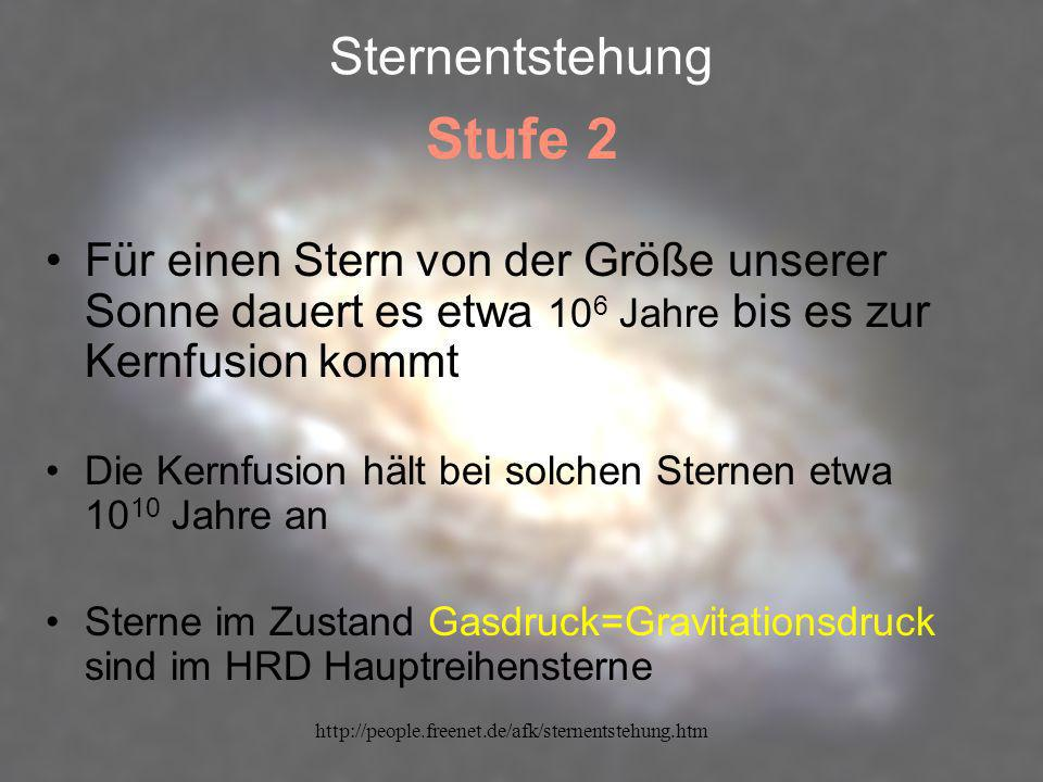 Stufe 2 Sternentstehung