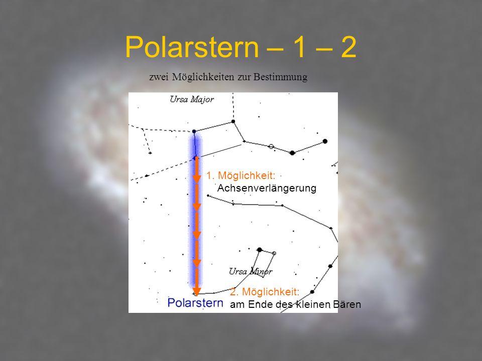 Polarstern – 1 – 2 zwei Möglichkeiten zur Bestimmung
