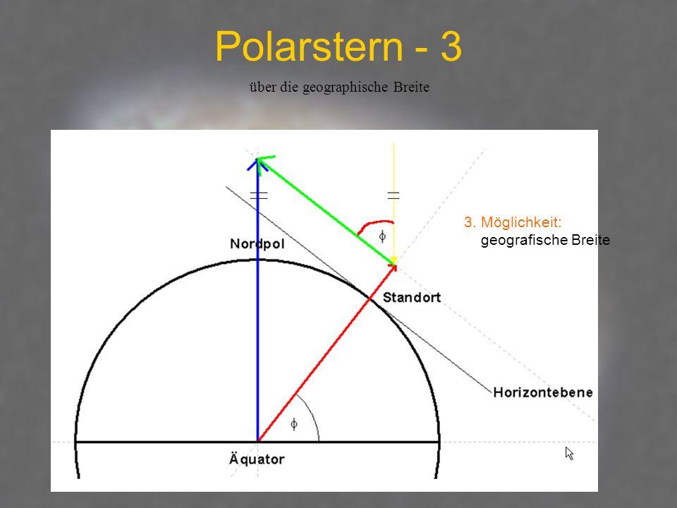 Polarstern - 3 über die geographische Breite