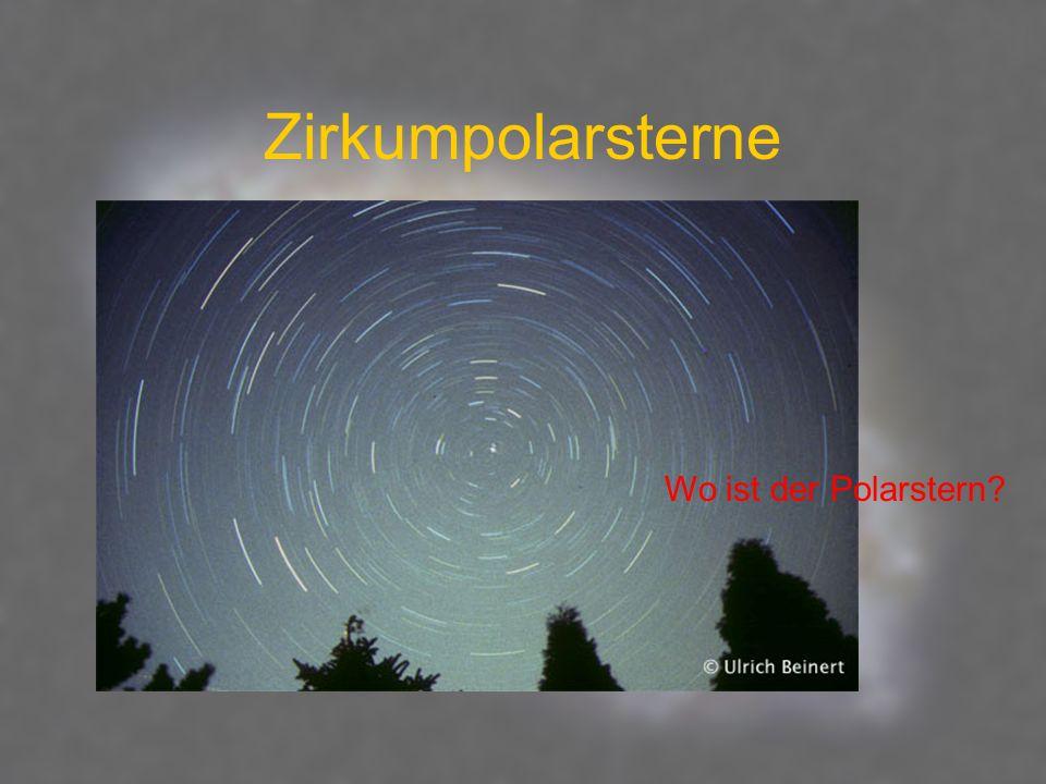 Zirkumpolarsterne Wo ist der Polarstern