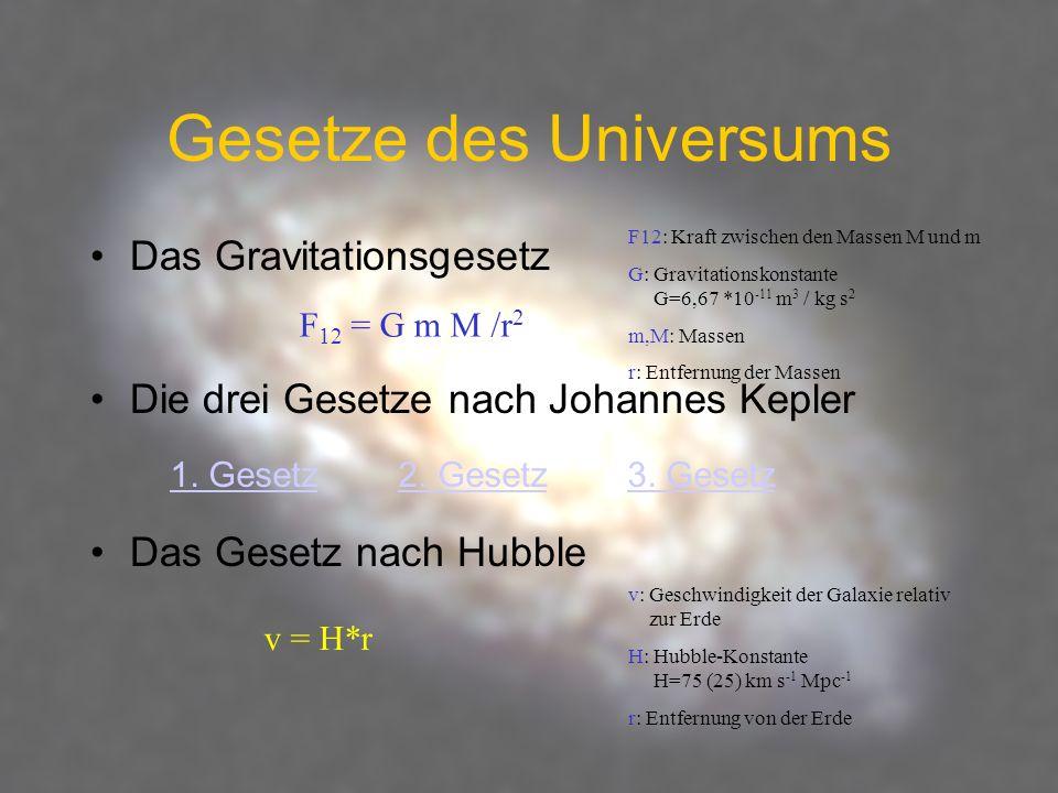 Gesetze des Universums
