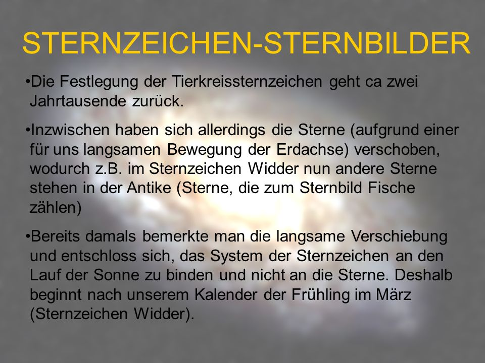 STERNZEICHEN-STERNBILDER