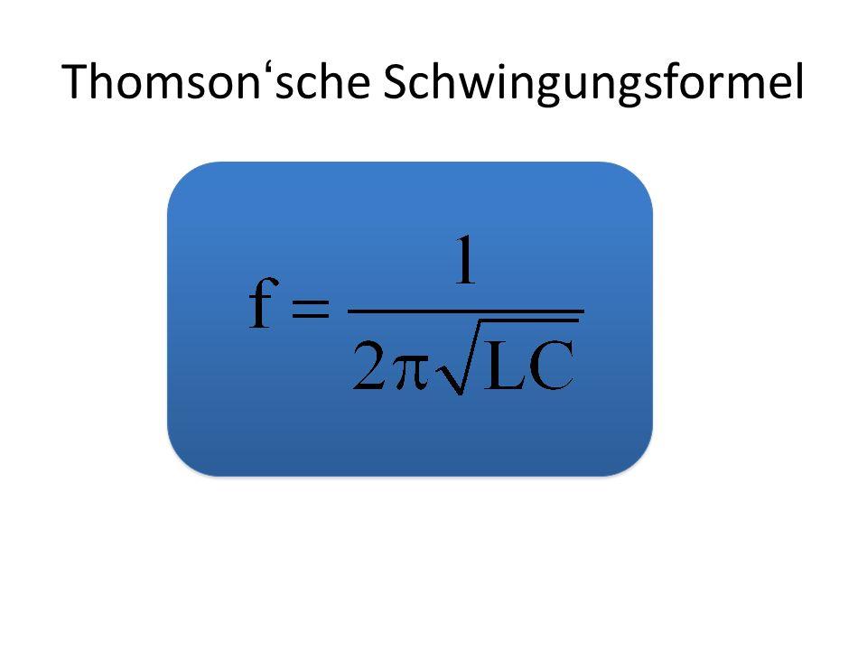 Thomson'sche Schwingungsformel