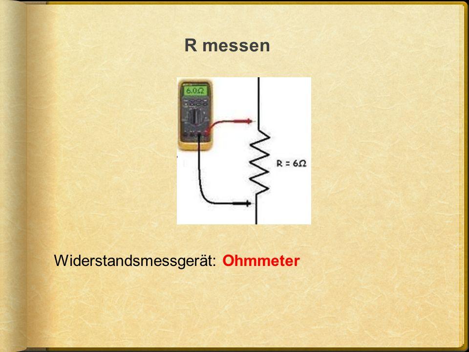 R messen Widerstandsmessgerät: Ohmmeter