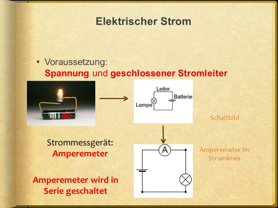 Amperemeter wird in Serie geschaltet