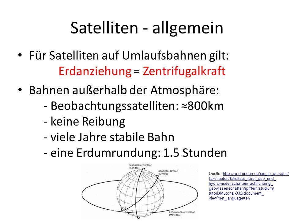 Satelliten - allgemein