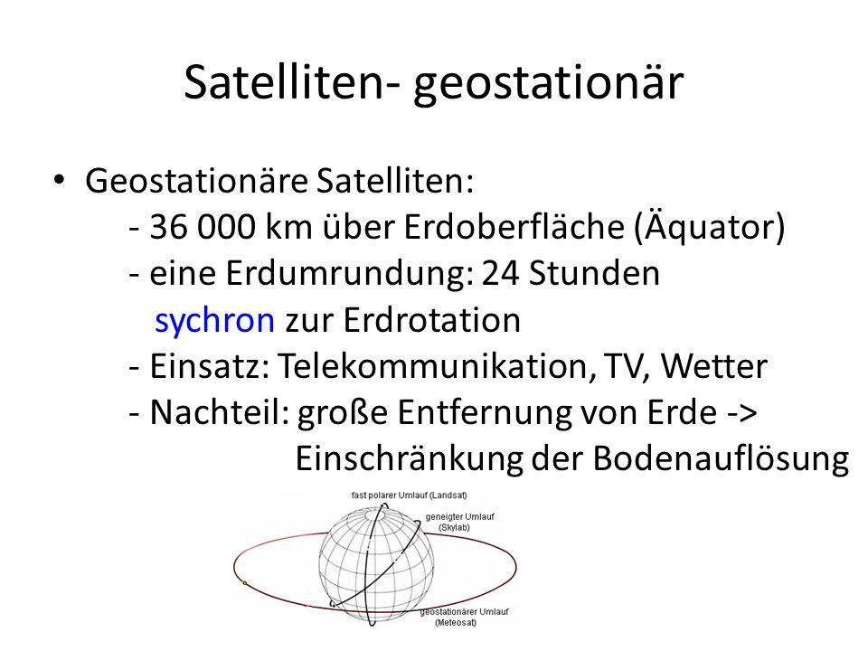 Satelliten- geostationär