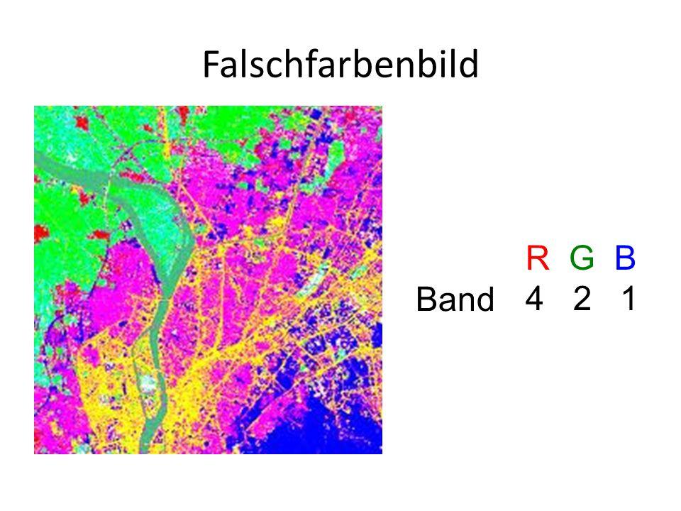 Falschfarbenbild R G B 4 2 1 Band