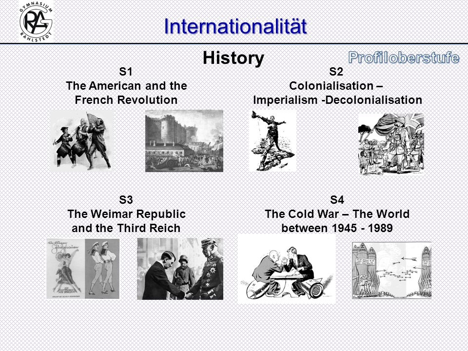 Internationalität History S1 The American and the French Revolution