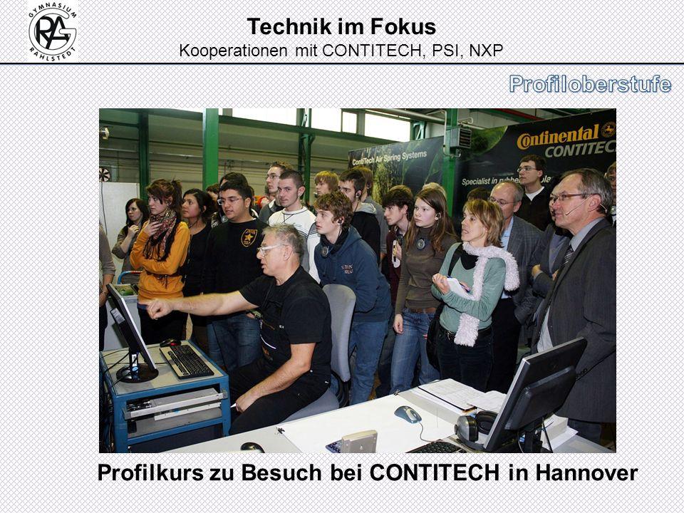 Technik im Fokus Kooperationen mit CONTITECH, PSI, NXP