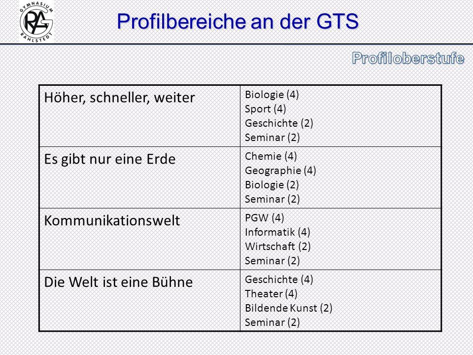 Profilbereiche an der GTS