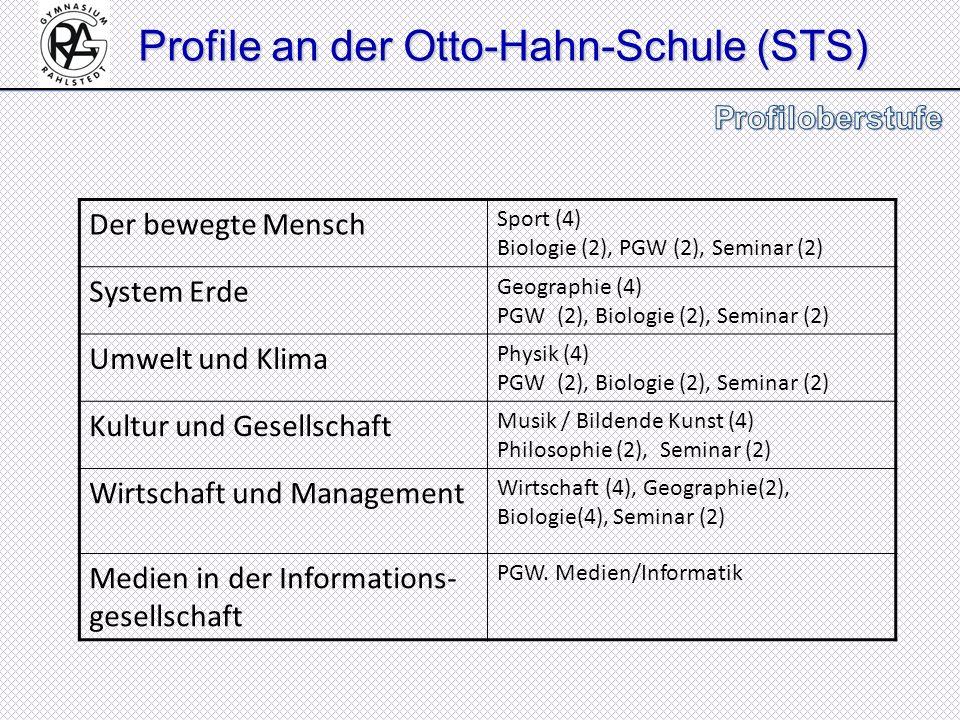 Profile an der Otto-Hahn-Schule (STS)
