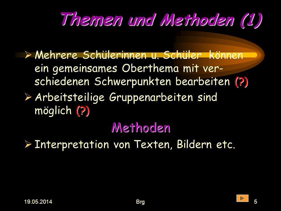 Themen und Methoden (1) Methoden