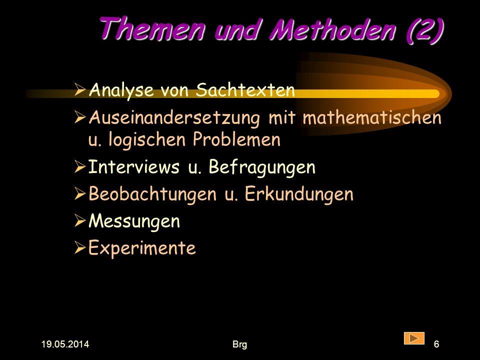 Themen und Methoden (2) Analyse von Sachtexten