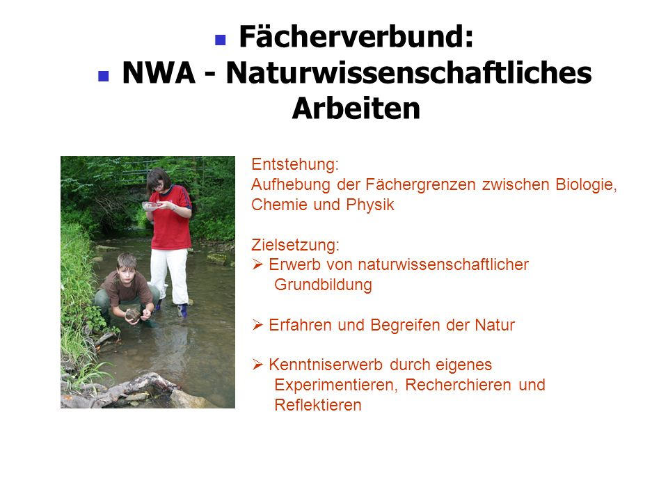 NWA - Naturwissenschaftliches Arbeiten