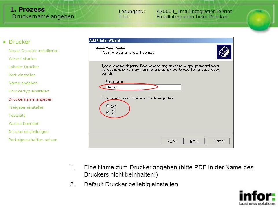 Default Drucker beliebig einstellen