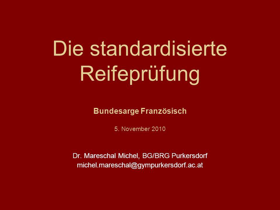 Dr. Mareschal Michel, BG/BRG Purkersdorf